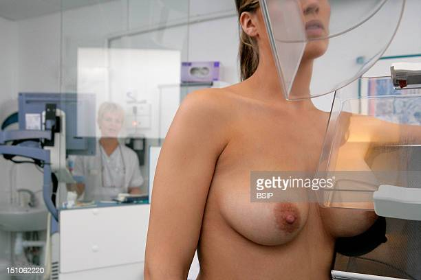 Model And Health Professional Photo Essay At Rouen University Hospital Mammogram Patient And Woman Technician