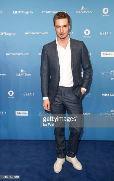 Model and influencer Simon Lohmeyer attends the Blue Hour Reception hosted by ARD during the 68th Berlinale International Film Festival Berlin on...