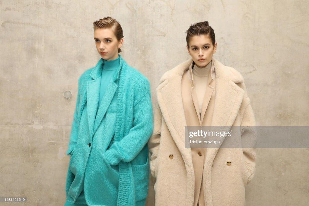Max Mara - Backstage: Milan Fashion Week Autumn/Winter 2019/20 : ニュース写真