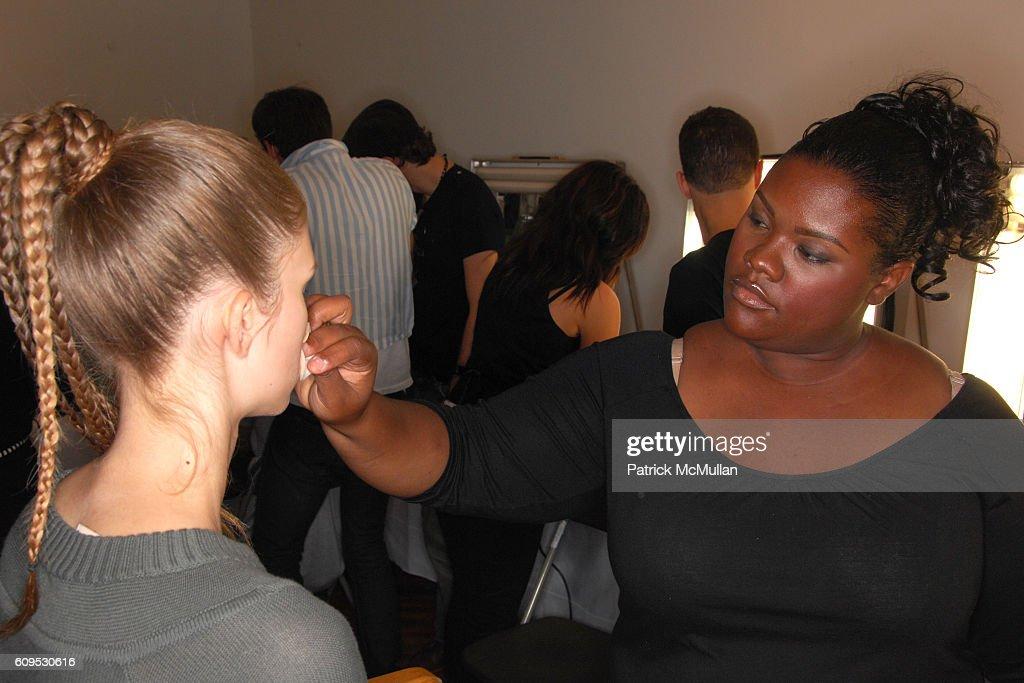 Model and Makeup Artist attend BOBBI BROWN, NY Fashion Week Spring 08 – BRIAN REYES
