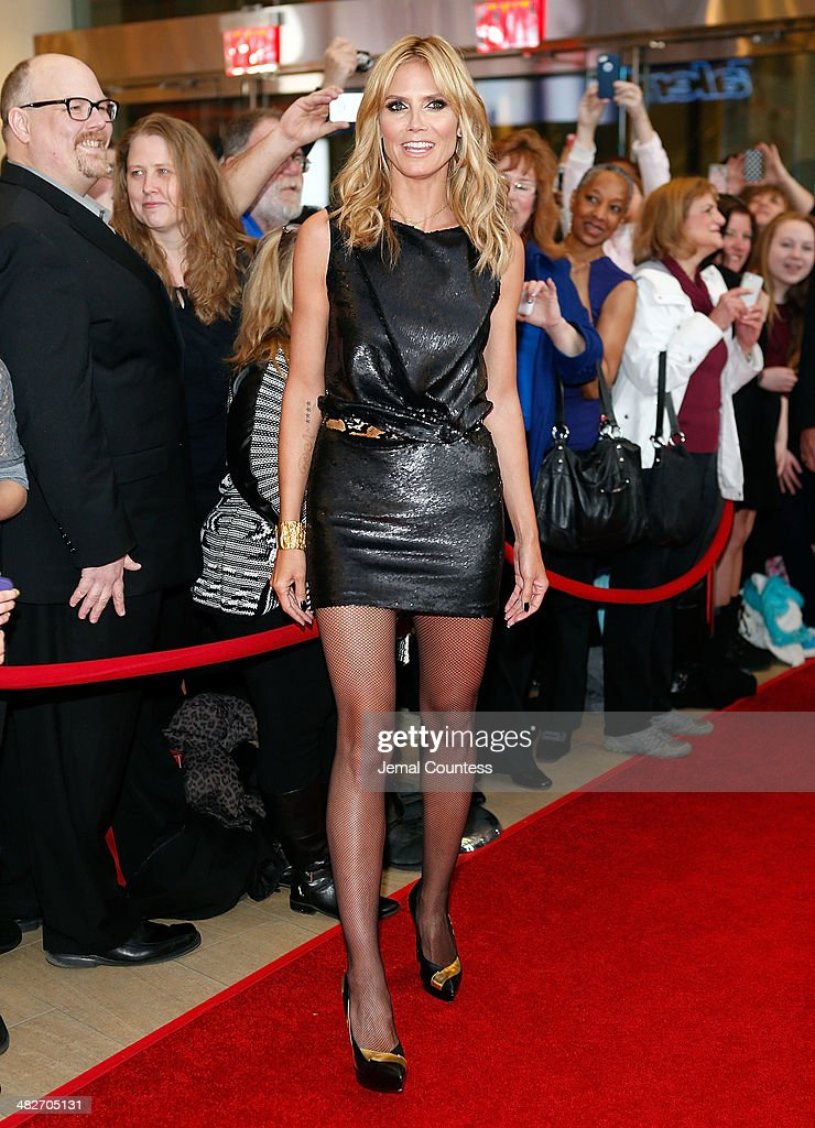 Model and media personality Heidi Klum attends the 'America's Got Talent' red carpet event at Madison Square Garden on April 4, 2014 in New York City.