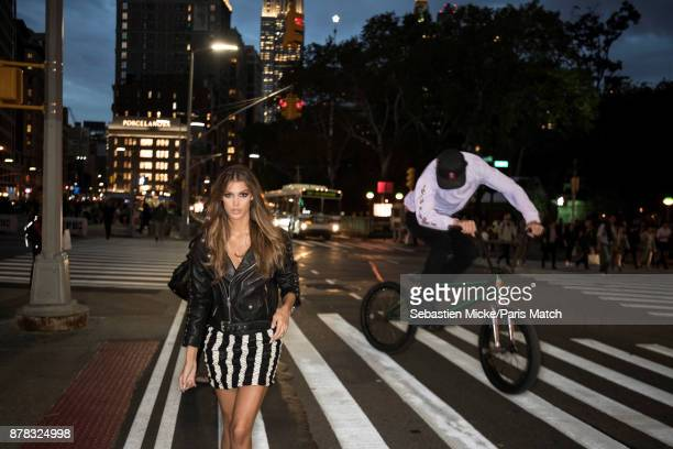 Model and Miss Universe 2016 Iris Mittenaere is photographed for Paris Match on November 3 2017 in New York City