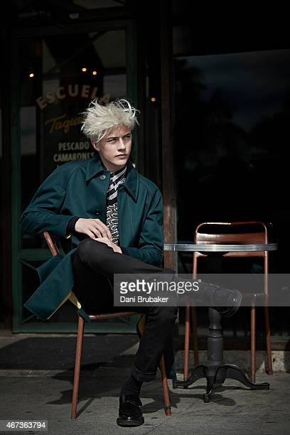 Model and musician Lucky Blue Smith is photographed for Self Assignment on November 23 2014 in Los Angeles California