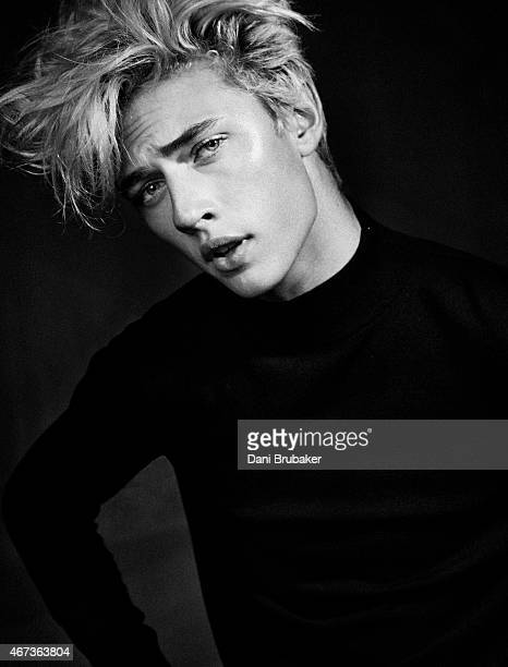 Model and musician Lucky Blue Smith is photographed for Self Assignment on October 23 2014 in Los Angeles California