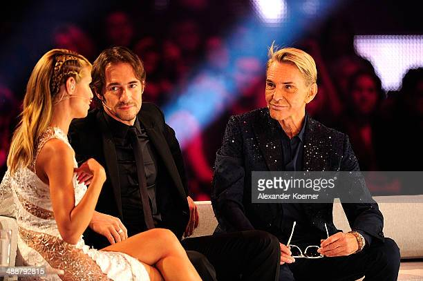 Model and presenter Heidi Klum attends together with her jury members Wolfgang Joop and Thomas Hayo the final of Germany's Next Top Model«TV show at...