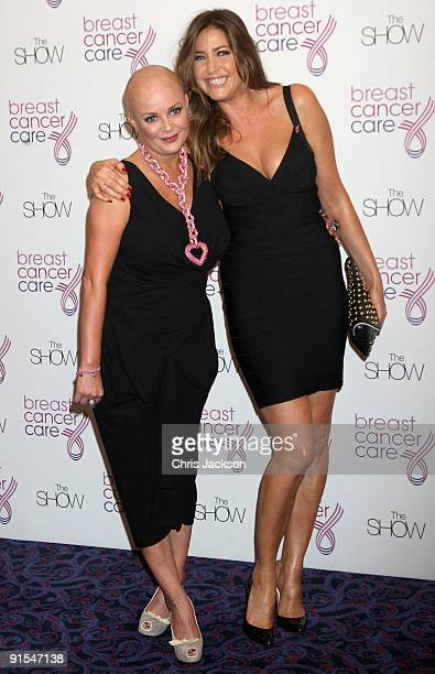 Model and presenter Lisa Snowdon and Gail Porter arrive at The Breast Cancer Care 2009 Fashion Show at Grosvenor House Hotel on October 7 2009 in...