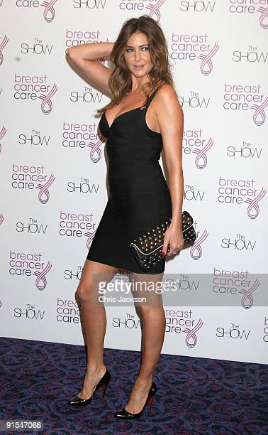Model and presenter Lisa Snowdon arrives at The Breast Cancer Care 2009 Fashion Show at Grosvenor House Hotel on October 7 2009 in London England