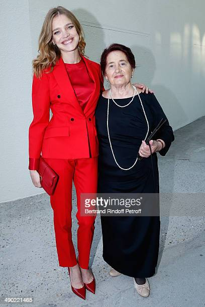 Model and President of the 'Naked Heart Foundation' Natalia Vodianova and her grandmother Varissa Gromova attend 'The strange city' Exhibition by...