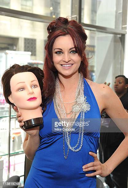 Model and professional wrestler Maria Kanellis attends FashionOnTheGo hair styling services celebration at Duane Reade in Rockefeller Center on May 6...
