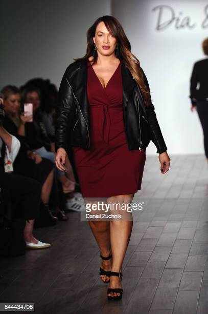 Model and professional wrestler Nia Jax walks the runway during the DiaCo fashion show and industry panel at the CURVYcon at Metropolitan Pavilion...