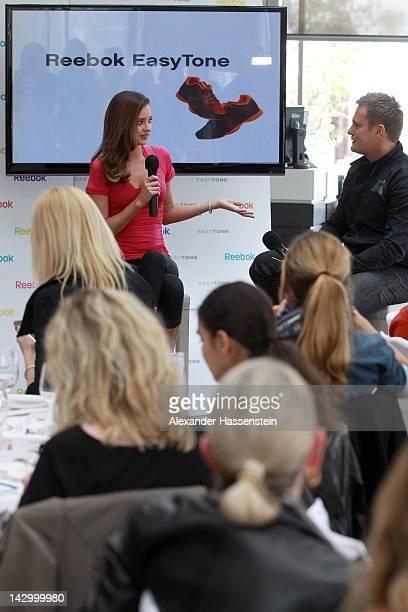 Model and Reebok Easytone Ambassador Miranda Kerr attends the Reebok  EasyTone event on the roof of 06af4f24f