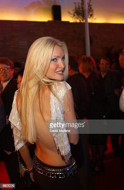 Model and singer Caprice arrives to the opening of the Palms Casino Resort November 15 in Las Vegas NV