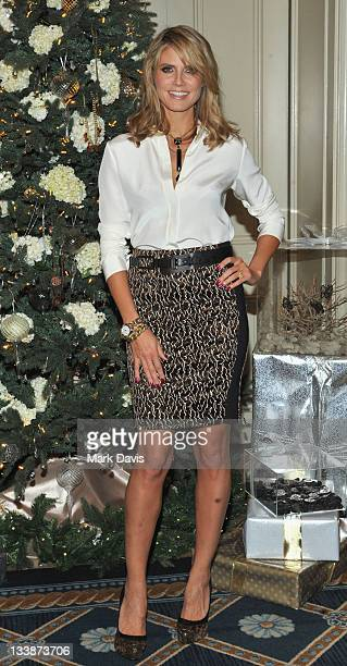 Model and television host Heidi Klum goes WILD holiday shopping with her Wildlife by Heidi Klum jewelry for QVC held at the Four Seasons hotel on...