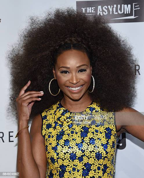 Model and television personality Cynthia Bailey attends the premiere of Syfy's Sharknado The 4th Awakens at the Stratosphere Casino Hotel on July 31...