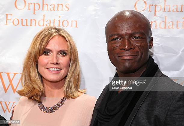 Model and television personality Heidi Klum and musician Seal attend the Worldwide Orphans Foundation 6th Annual Benefit Gala at Cipriani Wall Street...