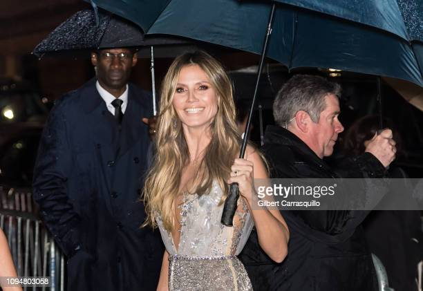 Model and television personality Heidi Klum is seen arriving to the amfAR New York Gala 2019 at Cipriani Wall Street on February 6 2019 in New York...