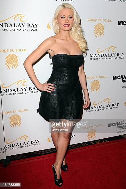Model and television personality Holly Madison arrives at the Las Vegas premiere of Michael Jackson THE IMMORTAL World Tour by Cirque du Soleil at...