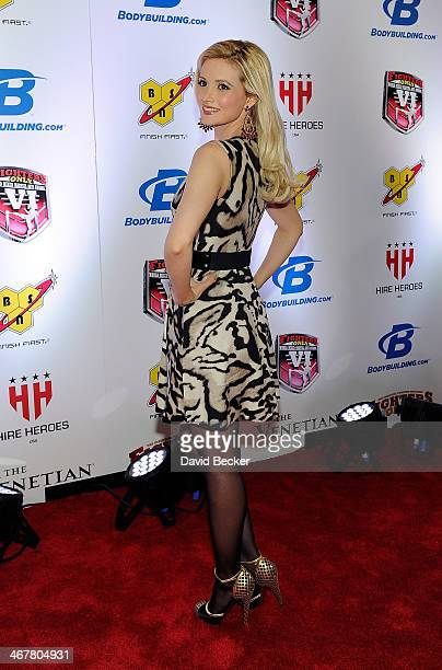 Model and television personality Holly Madison arrives at the sixth annual Fighters Only World Mixed Martial Arts Awards at The Palazzo Las Vegas on...