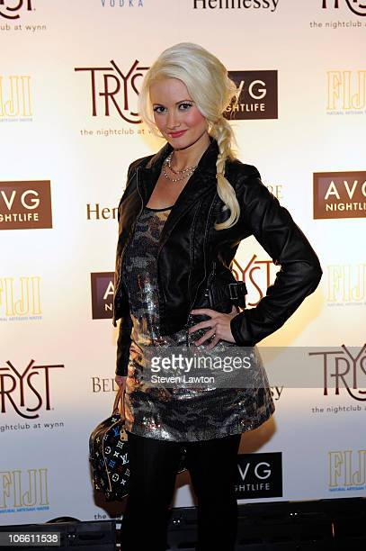 Model and television personality Holly Madison arrives for Drake's concert afterparty at the Tryst Nightclub on November 6 2010 in Las Vegas Nevada