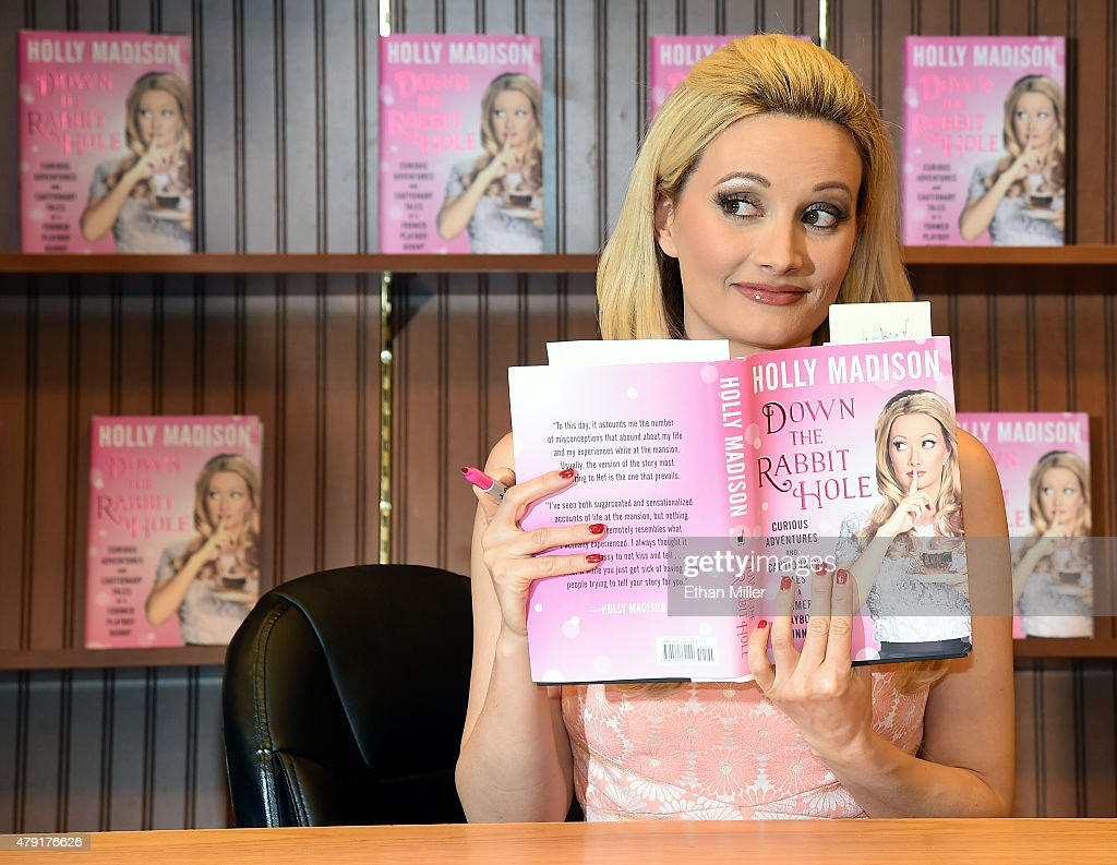 "Holly Madison Book Signing For ""Down The Rabbit Hole: Curious Adventures And Cautionary Tales Of A Former Playboy Bunny"" : News Photo"