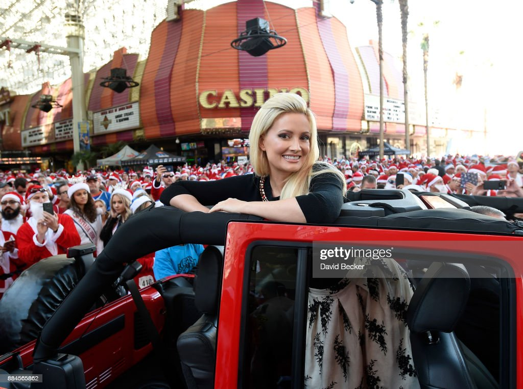 Model and television personality Holly Madison attends the 13th annual Las Vegas Great Santa Run benefiting Opportunity Village at the Fremont Street Experience on December 2, 2017 in Las Vegas, Nevada.