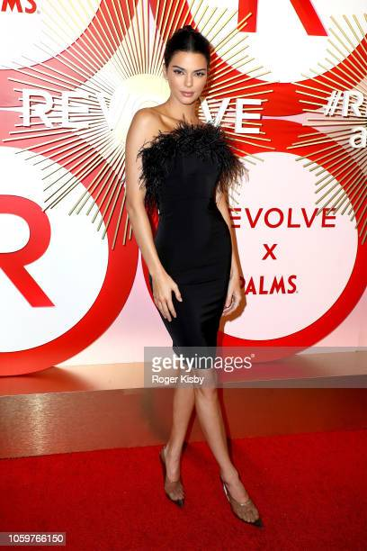 Model and television personality Kendall Jenner attends Revolve's second annual #REVOLVEawards at Palms Casino Resort on November 9 2018 in Las Vegas...