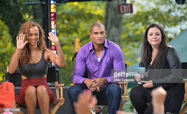 Model and Television personality Tyra Banks model Rob Evans and television personality Kelly Cutrone are interviewed during ABC's Good Morning...