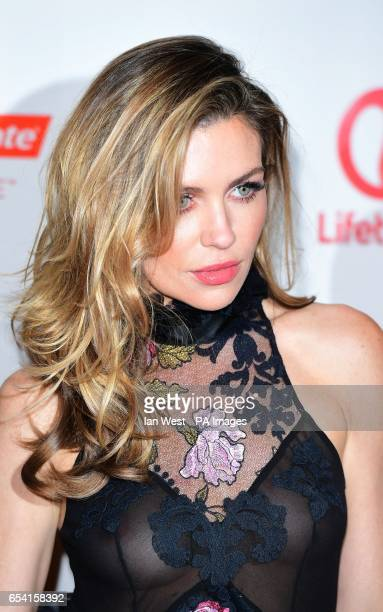 Model and television presenter Abbey Clancy attends the launch for the new season of Britain's Next Top Model at the Village Underground London
