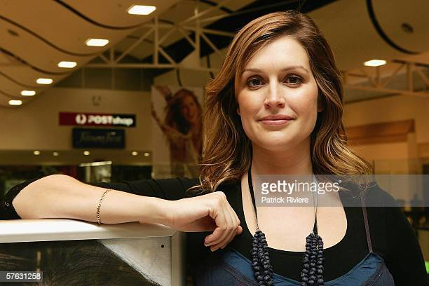 Model and TV and media personality Kate Fischer visits the new look Royal Randwick Shopping Centre on May 17 2006 in Sydney Australia