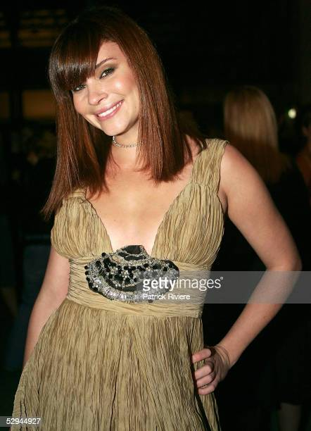 Model and TV host Chloe Maxwell attends the 2005 Marie Claire Awards at the Australian Technology Park Exhibition Hall on May 18 2005 in Sydney...