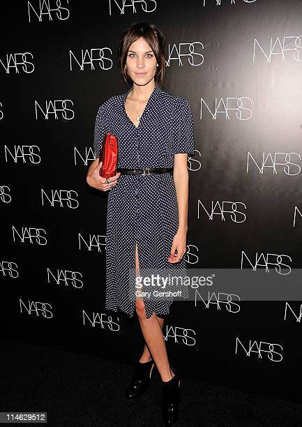 """Model and T.V. Personality Alexa Chung attends the book celebration for """"Makeup Your Mind: Express Yourself"""" by Francois Nars at Cedar Lake on May..."""