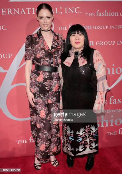Model and TV Personality Coco Rocha and designer Anna Sui attend the 2018 FGI Night of Stars Gala at Cipriani Wall Street on October 25 2018 in New...