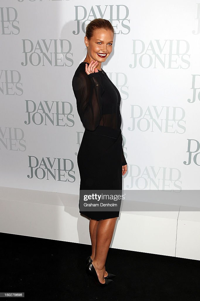Model and TV personality Lara Bingle attends the David Jones S/S 2012/13 Season Launch at David Jones Castlereagh Street on August 14, 2012 in Sydney, Australia.