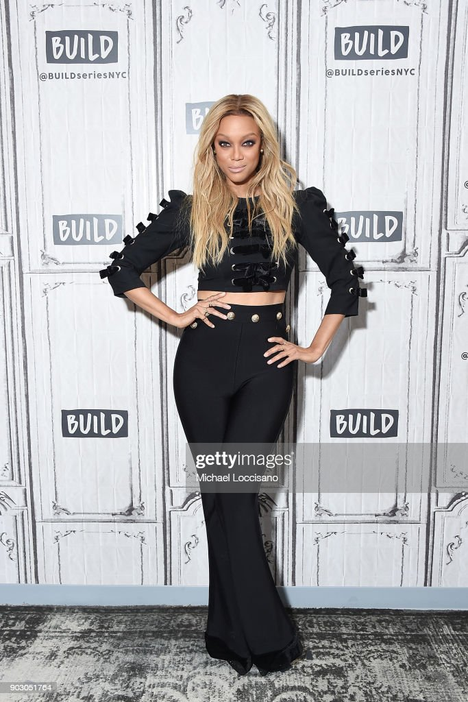 Model and TV personality Tyra Banks visits Build Studio to discuss the show 'America's Next Top Model' at Build Studio on January 9, 2018 in New York City.