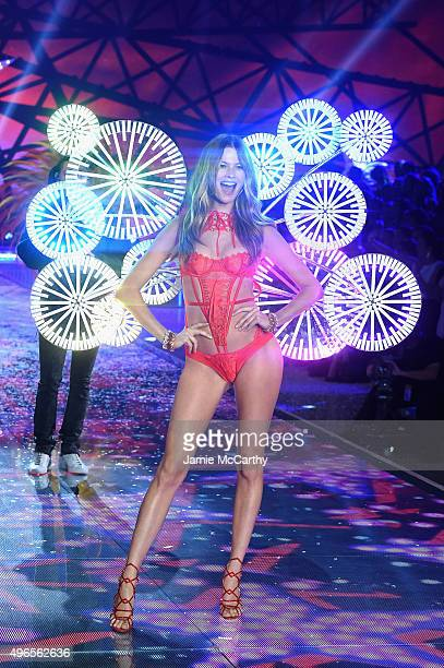 Model and Victoria's Secret Angel Behati Prinsloo from Namibia walks the runway during the 2015 Victoria's Secret Fashion Show at Lexington Avenue...