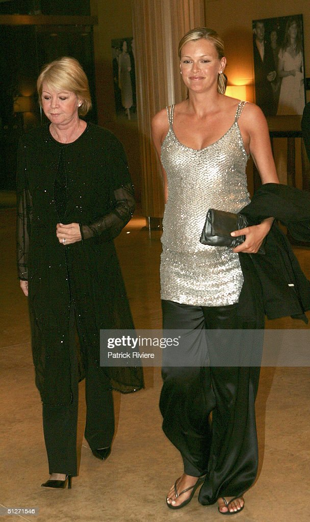 Model and wife of Lachlan Murdoch Sarah O'Hare and her mother Carole O'Hare arrive at the Sofitel Wentworth Gala Opening Night September 8, 2004 in Sydney, Australia.