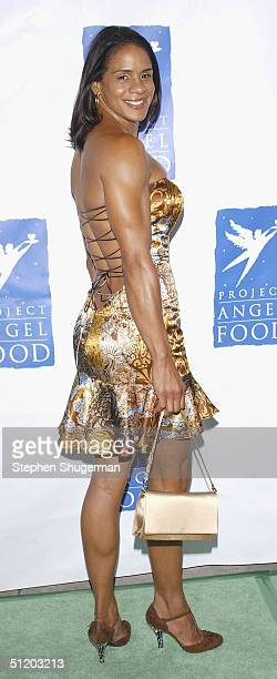 Model and wife of the NBA's Gary Payton Monique Payton attends Project Angel Food's 11th Annual Angel Awards Gala at Project Angel Food Headquarters...