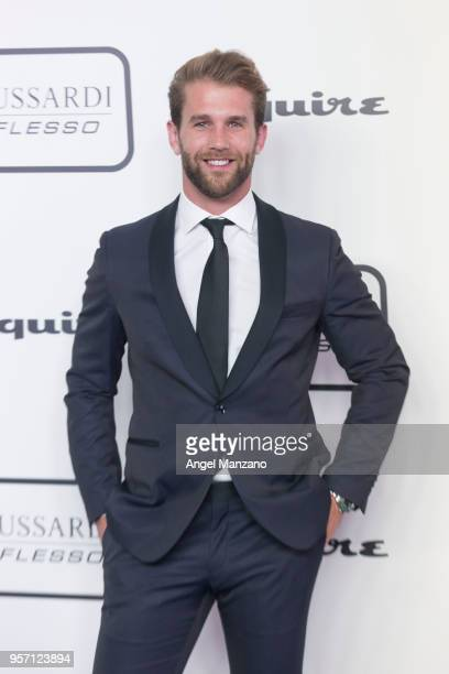 Model Andre Hamann attend new fragrance Riflesso de Trussardi launching party at Palacio de Santa Coloma on May 10 2018 in Madrid Spain
