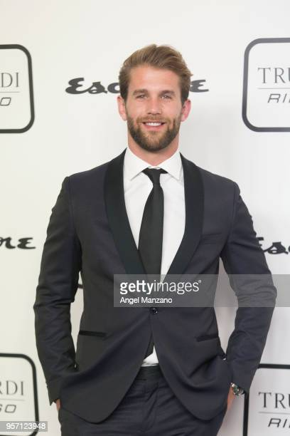 Model Andre Hamann attends new fragrance Riflesso de Trussardi launching party at Palacio de Santa Coloma on May 10 2018 in Madrid Spain