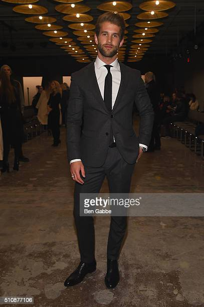 Model Andre Hamann attends the Boss Womenswear Fall 2016 fashion show during New York Fashion Week The Shows on February 17 2016 in New York City