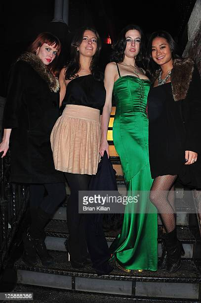 Model Andrea Astoria Elizabeth White Natalie White and model Jarah Mariano attend the Beard At Work screening party at The Chelsea Room on February 3...