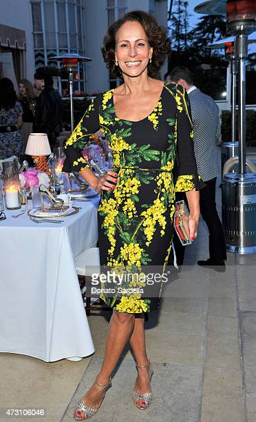 Model Andrea Dellal attends an intimate dinner hosted by Charlotte Olympia Dellal and Liz Goldwyn at The Sunset Tower Hotel on May 12 2015 in West...