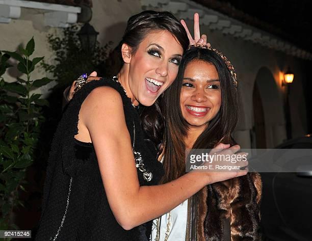 Model Andrea Guttag and actress Marissa Lorenz attend the Roberto de Villacis Award Season Couture Fashion preview at Hacienda Saint Pierre on...