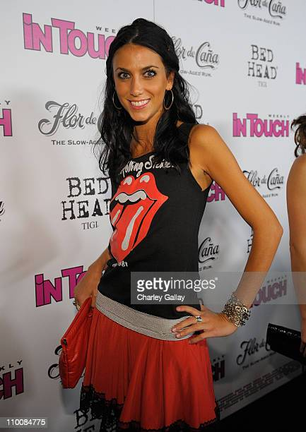 Model Andrea Guttag arrives at In Touch Weekly's ICONS IDOLS CELEBRATION with performances by Good Charlotte Leona Lewis and The Veronicas and music...