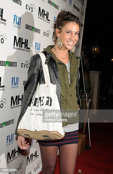 Model Andrea Guttag arrives at the launch party for MHL magazine held at the Boulevard3 nightclub on December 15 2009 in Los Angeles California