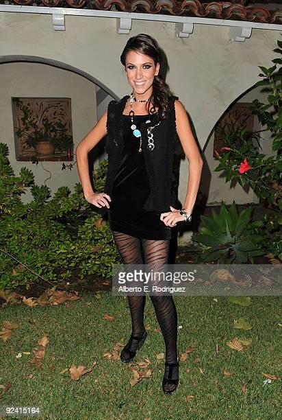 Model Andrea Guttag attends the Roberto de Villacis Award Season Couture Fashion preview at Hacienda Saint Pierre on October 27 2009 in Los Angeles...