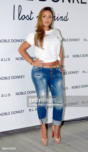 Model Andrea Salas attends the 'Noble Donkey' photocall at Fox restaurant on September 28 2017 in Madrid Spain