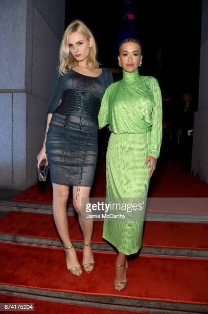 Model Andreja Pejic and recording artist Rita Ora attend 11th Annual DKMS 'BIG LOVE' Gala on April 27 2017 in New York City