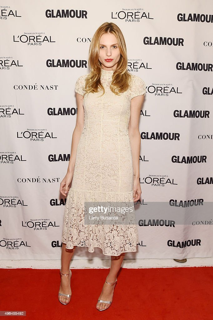 Model Andreja Pejic attends 2015 Glamour Women Of The Year Awards at Carnegie Hall on November 9, 2015 in New York City.