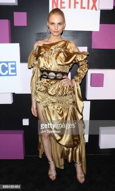 Model Andreja Pejic attends the 2017 Village Voice Pride Awards at Capitale on June 21 2017 in New York City